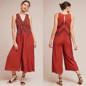 Maeve | Desert Embroidered Wide Leg Jumpsuit